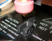 Printing my first part -- an endstop switch holder